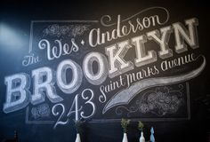 Custom Chalk Lettering by Dana Tanamachi | Design Milk #chalk #typography