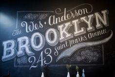 Custom Chalk Lettering by Dana Tanamachi | Design Milk