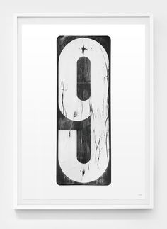 Image of Number 9 #black #nine #white #poster