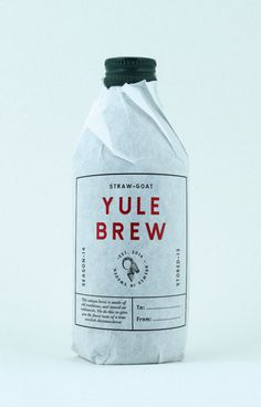 STRAW-GOAT YULEBREW #packaging #beer #bottle #brew