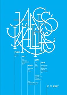 All sizes | jancsó kiállítás / exhibition poster | Flickr - Photo Sharing! #blue #poster