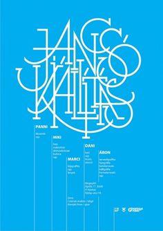 All sizes | jancsó kiállítás / exhibition poster | Flickr - Photo Sharing! #blue #poster