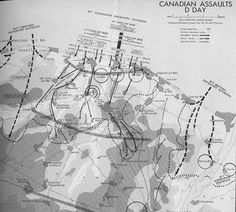 Google Image Result for http://warchronicle.com/canadian_armoured/regimentals_wwii/canadianddaybw.jpg #white #infographics #war #black #map #vintage #and #typography