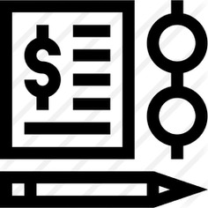 See more icon inspiration related to files and folders, business and finance, signing, dollar symbol, contract, glasses, pencil, writing, document, paper and pen on Flaticon.