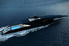 Black Swan Superyacht Concept By Timur Bozca #BlackSwan #Superyacht #Concept #TimurBozca