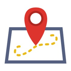 See more icon inspiration related to gps, pin, position, map location, placeholder, map pointer, locations, map point, Maps and Flags and street map on Flaticon.