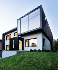 Playing With Volumes: The Black and White Connaught Residence in Montreal #architecture