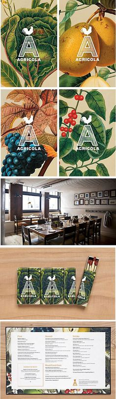 Agricola Restaurant Identity Designed by Mucca Design #catering