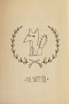 Sara Seal - The Shifty Fox #fox #draw #hand #illustration #animal