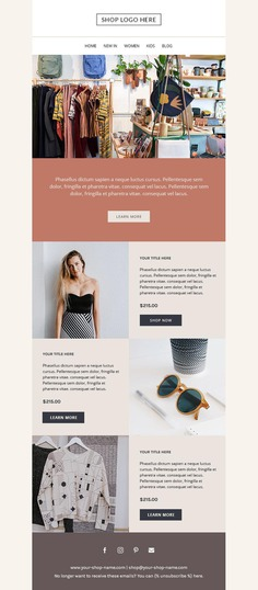 Mailchimp email template Responsive HTML email Newsletter image 2