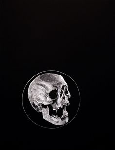Circle, Ink - Boo Saville Copyright Boo Saville 2013 #ink #white #black #illustration #and #circle #skull #drawing