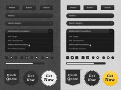 Ui kit with badges in white and black Free Psd. See more inspiration related to Badge, Box, Black, Text, Badges, White, Bar, Text box, Radio, Search, Ui, Drop, Buttons, Scroll, Psd, Ui kit, Checkbox, Search bar, Down, Search box, Horizontal, Kit, Scroll bar, Input, Radio buttons, Text input and Drop down on Freepik.