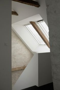 House and art studio stairs #interior #house #modern #rustic #architecture #studio #art #paintings #artist