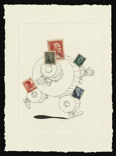 Stamp Drawings on the Behance Network #stamp #drawing