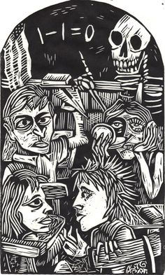 The Linocut Dance of Death - 50 Watts