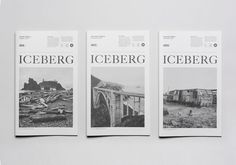 Iceberg #cover #newspaper #editorial #typography