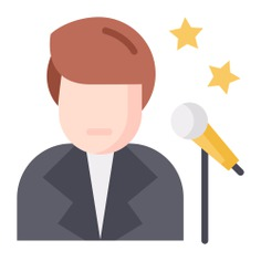 See more icon inspiration related to sing, professions and jobs, music and multimedia, music note, singer, electronics, conference, audio, communications, song, user, voice, microphone and tool on Flaticon.