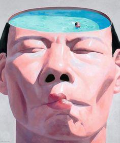 Yue Minjun | PICDIT #painting #art