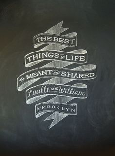 Dana Tanamachi / Chalk Lettering #design #graphic #chalk #art #brooklyn #typography