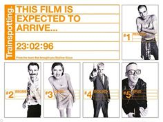 Creative Review - Trainspotting's film poster campaign, 15 years on #helvetica #trainspotting