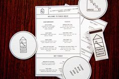 Punch House #menu #identity #design #print #food