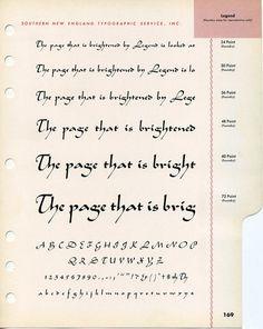 Legende type specimen