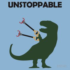 paris2london:rhamphotheca:Unstoppable by Jez Kemp(see more designs by JezKemp at Red Bubble)This shouldn't had made me laugh as much as #rex #funny #lol