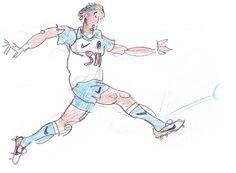 Specialmagazin #kick #soccer #illustration #man #football #drawing