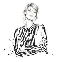 Esra Røise // Stripes 21 #stripes #white #woman #black