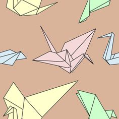 Origami Bird Pattern #birds #origami #pattern