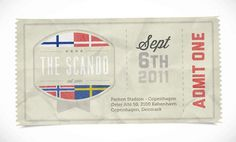 Dribbble - scando-ticket.jpg by Oli Lisher #texture #ticket #scando