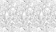 Jonathan Calugi | Shiro to Kuro #white #black #texture #illustration #and