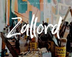 Zallord - Free Brush Font