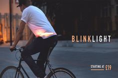 BlinkLight: Bike Indicators - IPPINKA The design behind these human blinkers is so simple you'll wonder why this accessory hasn't been
