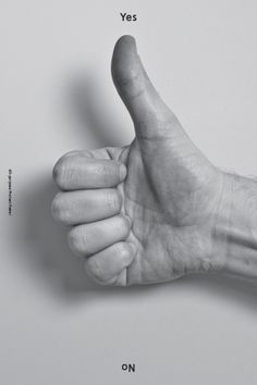 Yes + No, via Baubauhaus. #thumbs #yes #up #poster #no