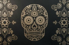 Day Of The Dead Skull Wallpaper HD Wallpapers