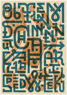 typography, illustration
