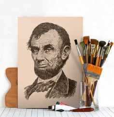 Abraham Lincoln #lincoln #president #people #abraham #art #usa #awesome
