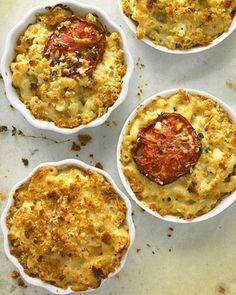 Macaroni and Cheese with Slow-Roasted Tomato Slices #potato