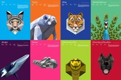 Animal Infographic – Fubiz™ #color #vecto #animals