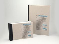 Eco Sketchbooks - James Hambly | Graphic & Web Designer #print #books #waste #environmental #recycling