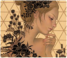 . audrey kawasaki . #kawasaki #girl #wood #paint #art #audrey