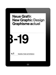 Die Neue Grafik #graphic design #swiss #neue grafik #ipad