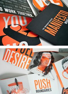 We, You #print #orange #black