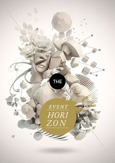 The Event Horizon Digital artwork by Giampaolo... | WE AND THE COLOR - A Blog for Graphic Design and Art Inspiration #poster
