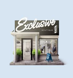 Shop Facade Illustration on Behance