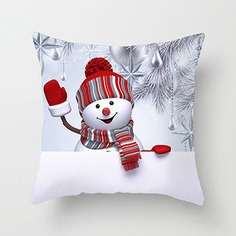 45*45Cm Happy New Year Christmas Santa Claus Xmas Decorations for Home. Elk Decorative Pillows Cover
