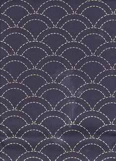 http://www.shiboridragon.com/Sashiko/Fabric/Clamshell-Navy.jpg #fabric pattern #clamshell