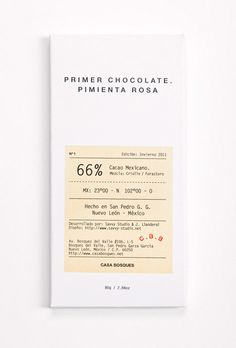 Casa Bosques Chocolates #packaging #chocolate #typography