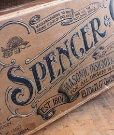 Spencer_box_1 #vintage #typography